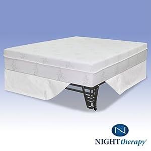 night therapy 10 pressure relief memory foam. Black Bedroom Furniture Sets. Home Design Ideas