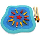 Wooden Fishing Toy Pond Maya Organic Wood, Magnet & Fabric Toy For Kids