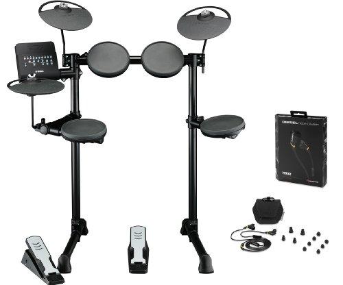 Yamaha Dtx400K Electronic Drum Kit Bundle With Monster Diesel Vektr In-Ear Headphones
