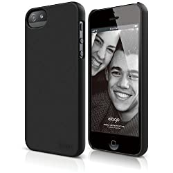 elago S5 Slim Fit 2 Case for iPhone 5 - eco friendly Retail Packaging - Soft feeling Black