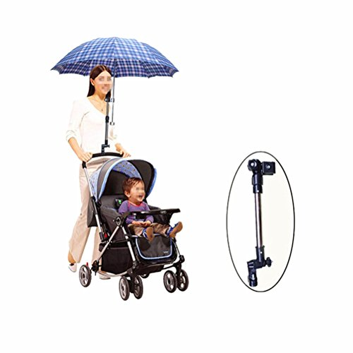 Zerowin Portable Adjustable Baby Stroller Pram Umbrella Bar Stand Holder Bracket Connector Cycling Bicycle Wheelchair