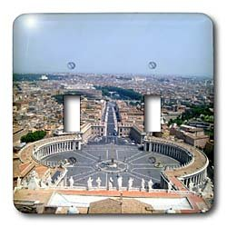 Vacation Spots - The Vatican Square - Light Switch Covers - double toggle switch