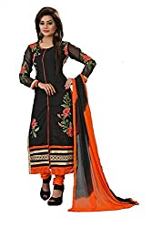 Shree Hans Creation Black Straight Georgette Dress Material