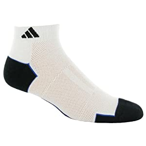 adidas Men's Climacool II 2-Pack Low Cut Sock, White/Black/Collegiate Royal