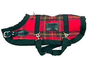 Bluemax 12.5-Inch Dog Coat, X-Small, Red Plaid