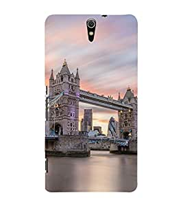 London Bridge 3D Hard Polycarbonate Designer Back Case Cover for Sony Xperia C5 Ultra Dual :: Sony Xperia C5 E5533 E5563