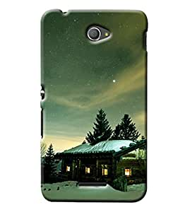 Clarks Snow Weather Hard Plastic Printed Back Cover/Case For Sony Xperia E4