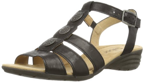 Gabor Womens Eartha L T-Bar 84.552.57 Black 4 UK, 37 EU