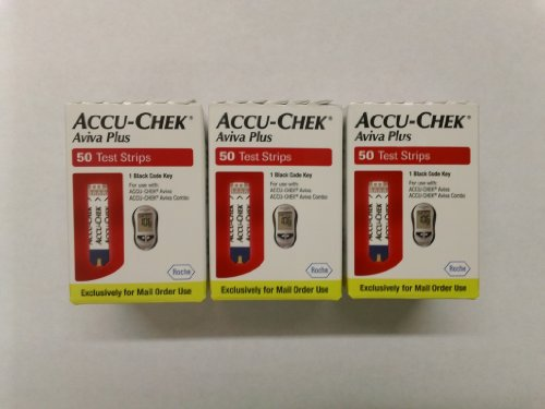 ACCU-CHEK Aviva Plus Mail Order Test Strips, 3 Boxes of 50