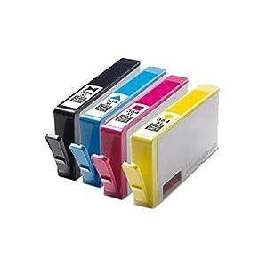 4 Compatible HP 364XL Multipack High Capacity Printer Ink Cartridges For Photosmart B109a B109n B109d B109f B110a B110c B110e B111 B210a B210c B211 C410b C309a C309n C309g C310a B209a B209c B010a B8550 B8553 C5324 C5380 C5383 C5390 C6300 C6324 C6380 D5400 D5460 5510 5515 6510 7510, Chipped, Ready for use