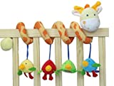 Giraffe Baby Crib Toy From Crib Critters - Wrap Around Crib Rail Toy or Stroller Toy - Favorite Baby Toys