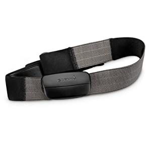 Garmin Premium Soft Strap Heart Rate Monitor for Garmin Fitness Products Including Forerunner, Edge and Vivofit