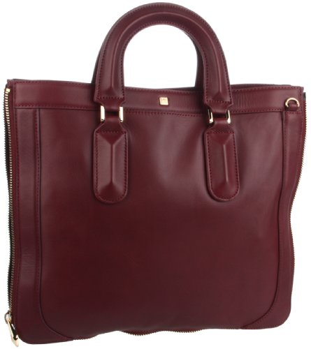 Rev Pour La Victoire  Rhodes Laptop Bag, Oxblood, One Size