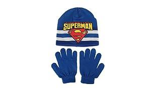 DC COMICS Conjunto Gorro y Guantes Superman Stripe (Azul)