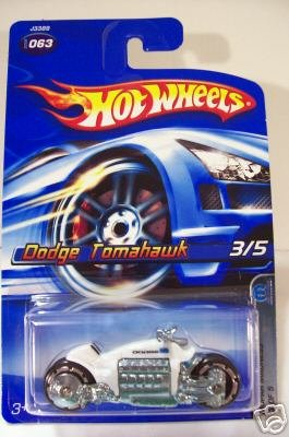 Hot Wheels Dodge Tomahawk Motorcycle White #063 3/5 Mopar 1:64 Scale - 1