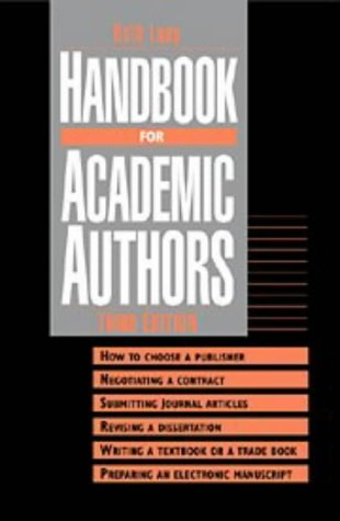 Handbook for Academic Authors, Beth Luey
