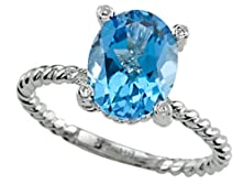 buy Genuine Blue Topaz Ring By Effy Collection 14Kt Size 6
