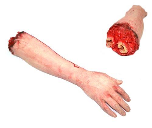 Braccio Mozzato Finto con sangue - scherzo realistico morbido