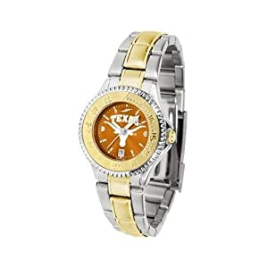 Texas Longhorns Ladies Stainless Steel and Gold Tone Watch by SunTime