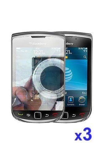 Blackberry Torch 9800 Mirror Reflect Screen Protector ( 3 Pack )