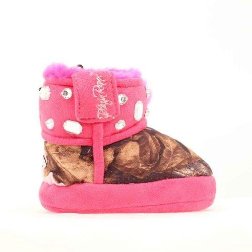 Blazin Roxx Infant-Girls' Bejeweled Mossy Oak Camo Slippers Pink Medium US