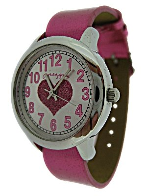 Pineapple Dance Studio Pink Heart Ladies Watch - 3936/94