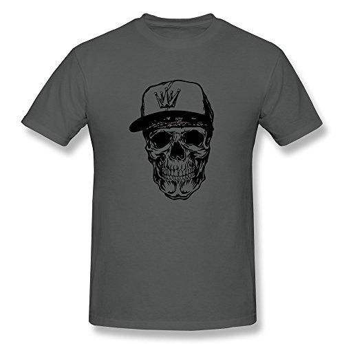 Jiaso Boy Hip Hop Skull Tshirt Deepheather Xx-Large