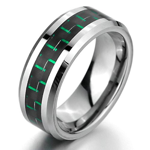 epinkifashion-jewelry-mens-8mm-tungsten-carbon-fiber-rings-band-silver-black-green-comfort-fit-weddi