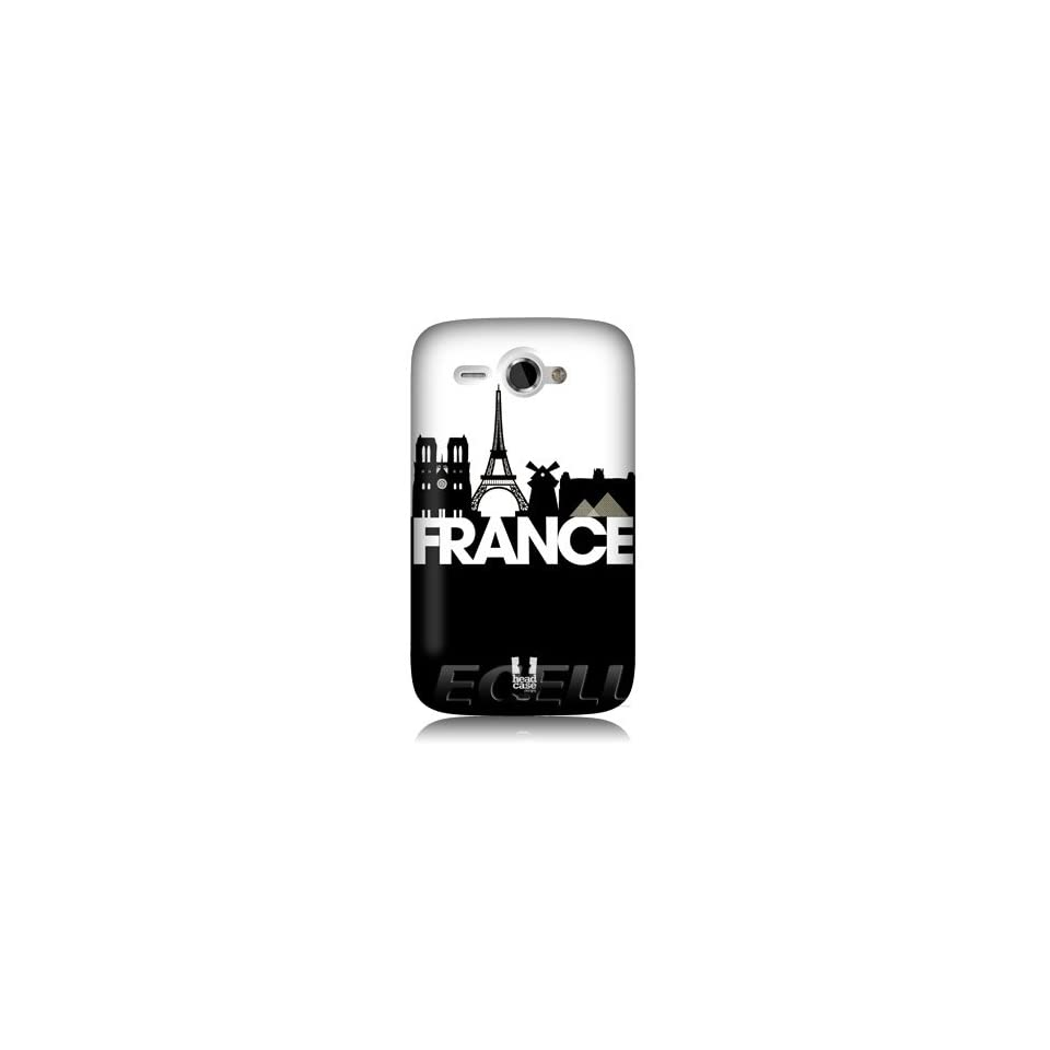 Ecell   HEAD CASE FRANCE BLACK & WHITE SKYLINE DESIGN SNAP