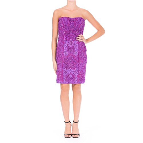 94564435 Sue Wong Womens Embellished Prom Cocktail Dress Purple 6