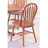 Set of 4 Oak Finish Arrow Back Windsor Country Style Dining Chairs