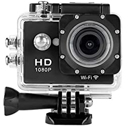 Floureon Y8-P WiFi Action Camera Impermeabile 1080P HD 12MP Sports Video Camera DV Nero