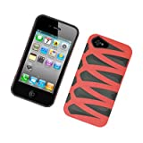 For Apple iPhone 4/CDMA/4S Fusion Gel/Hard Case Black/Red