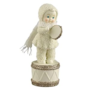 Department 56 Snowbabies Dream Collection Merry Makers Tamborine Figurine, 1.77-Inch