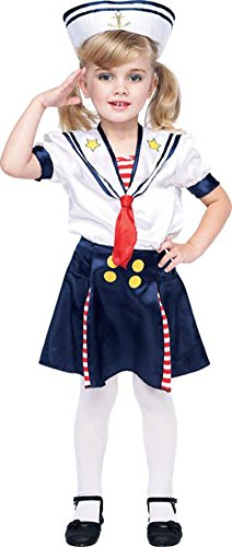 Child's Toddler Sailor Girl Costume (Size: 2T)
