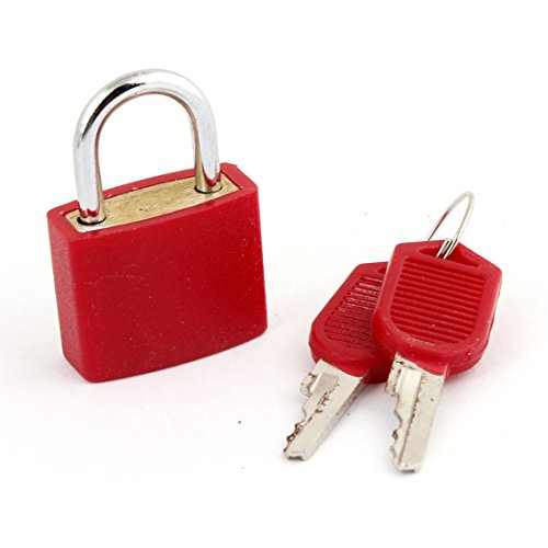 Safety Home Gate Door 23Mm Red Lock Padlock W 2 Keys front-957950