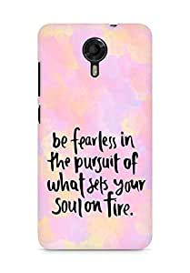 AMEZ be fearless i the pursuit Back Cover For Micromax Canvas Xpress 2 E313