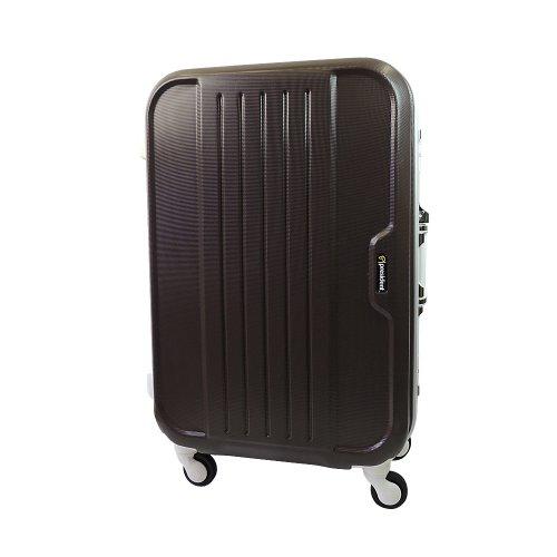 【 President 】スーツケース 軽量アルミフレーム TSAロック搭載 【AIRボックスキュート2013】3年保証 7COLOR 3サイズ【大型、ジャスト型、中型】 (ジャスト型 Jサイズ 70リットル, ショコラブラウン)
