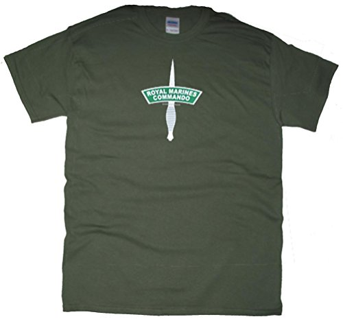 Got-Tee Men's UK Army Royal Marine Commando SAS T-Shirt (XL, Olive Green) (British Army Clothes compare prices)