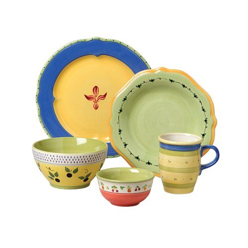 Buy Pfaltzgraff Pistoulet Blue 60-Piece Dinnerware Set, Service for 12
