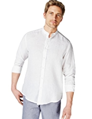 Blue Harbour Plain Linen Shirt