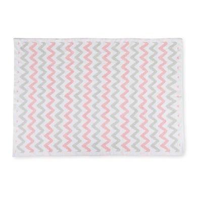 DEMDACO Chenille Baby Blanket, Pink Chevron