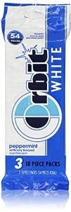 Orbit White Sugar Free Gum, Peppermin…