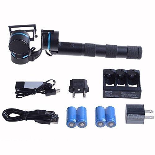 GVB C&G Wide Angle Action Camera & Handheld Gimbal Bundle (Black) [並行輸入品] Texas tr llc