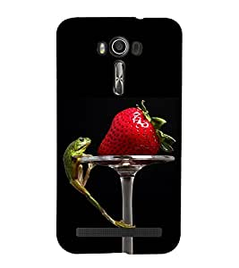 Vizagbeats Strawberry and Frog Back Case Cover for Asus Zenfone 2 Laser ZE550KL::Asus Zenfone 2 Laser ZE550KL (5.5 Inches)