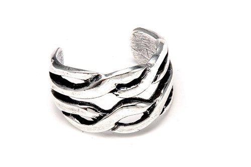Sterling Silver .925 Double Band Braided Design Ear Cuff Wrap Include Special Gift Pouch.