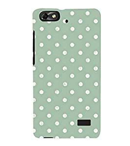 POLKA DOT WHITE AND GREEN PATTERN 3D Hard Polycarbonate Designer Back Case Cover for Huawei Honor 4C :: Huawei G Play Mini