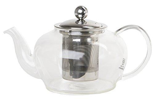 Le Juvo 20 Ounce Glass Teapot With Stainless Steel Tea Strainer
