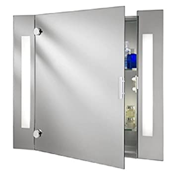 Searchlight Mirrored Bathroom Cabinet Switched with Shaver Socket, 6560