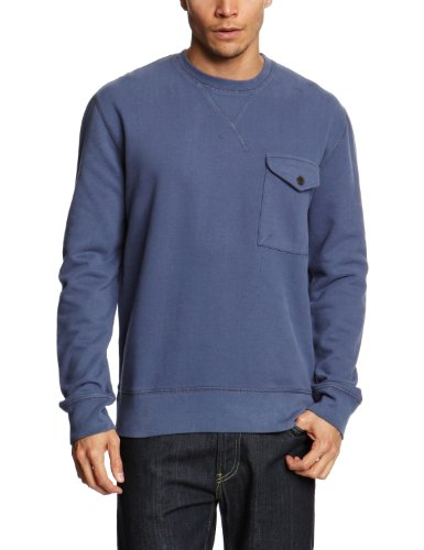 French Connection Pocket Dean Men's Jumper Laundered Blue Large